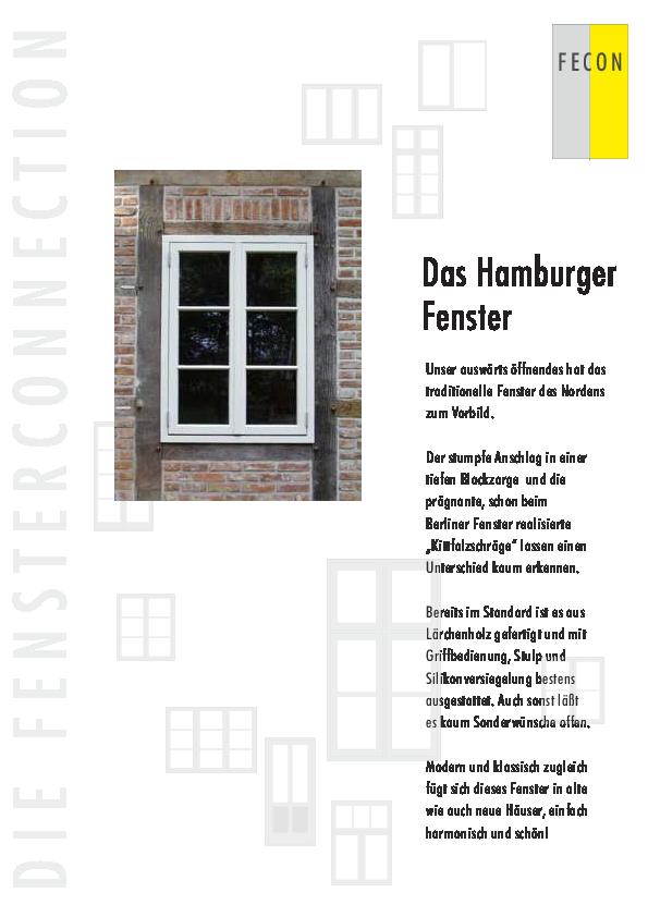 Super Hamburger Fenster - Informationen | Fecon-Fenster LW76